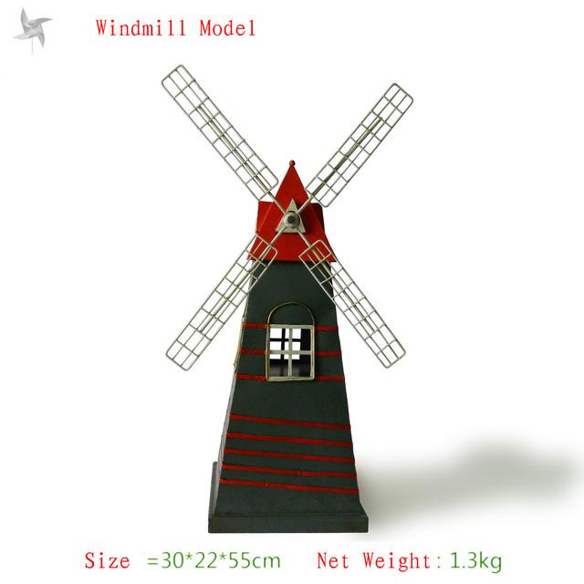 Antique craft windmill model handmade craft home decoration bar coffee house display birthday gift