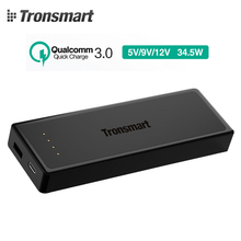 Tronsmart Quick Charge 3.0 12000mAh Portable External Battery Mobile Power Bank Support Quick Charge for iPhones,Samsung,Type-C
