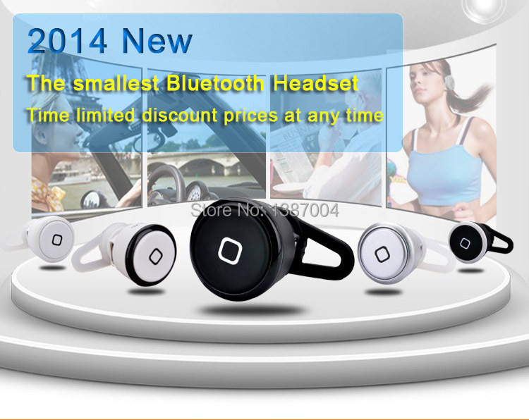 Universal Super Mini general mobile phone computer Wireless Bluetooth mono headset earphone F-E007 - Cheng Heng store