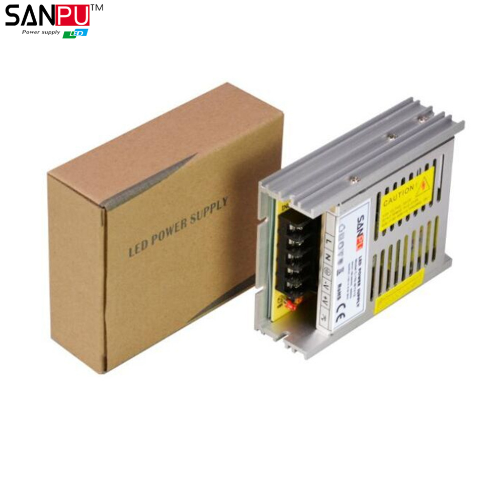 SANPU SMPS 100W Switching Power Supply 12V DC 8.33A Constant Voltage Single Output AC-DC Transformer Driver Indoor for LEDs 80W(China (Mainland))