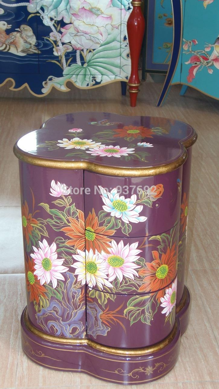 AW101 painted furniture, night stand, antique furniture, european style(China (Mainland))