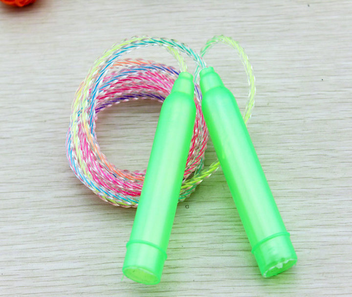 New Popular Plastic Mix-Color Rope Skipping 200 CM Long Fitness Equipment A Good Sport Gift For Children Lowest Price Selling(China (Mainland))