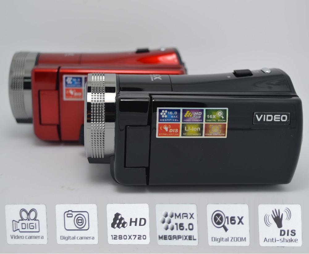 "Hot Sale cheap DVR Camcorders 2.7"" TFT LCD Screen 720P digital Camcorders 16x Digital Zoom MAX 16MP Video Camera Recorder HD-C8(China (Mainland))"