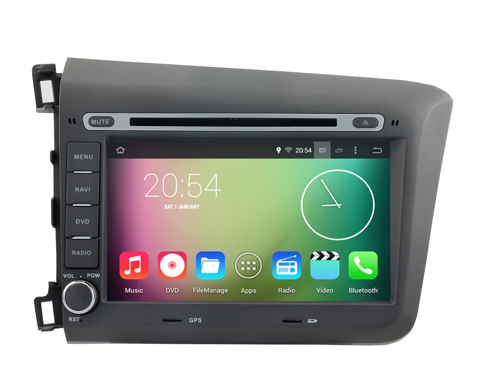 Android 4.4.4 HD 1024*600 Quad core 16GB 1.6GHZ Car DVD player GPS Navigation System Stereo Radio For Honda CIVIC 2012 2013 2014<br><br>Aliexpress