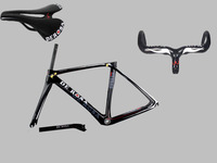 Low price UD weave T1000 carbon De Rosa D3 carbon road frame carbon frame with handlebar and saddle