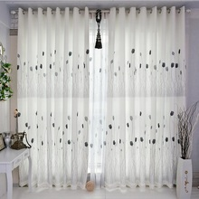 Brief modern living room curtain finished product high quality dodechedron bedroom flower curtains living room curtains #30(China (Mainland))