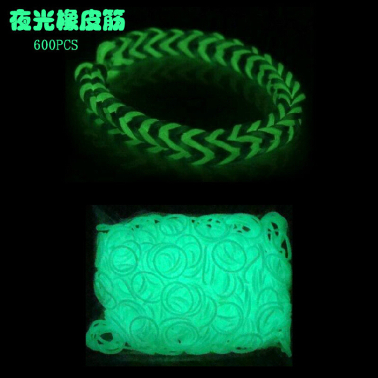 Luminous Material 600 pcs ,gum for bracelets the hands girls netting weaving bracelets children plaiting weaving(China (Mainland))