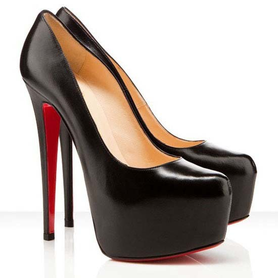 black high heels with red soles christian louboutin rosella