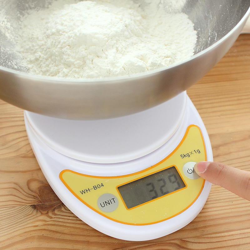 Mini electronic scales platform balance plastic solid round digital simple and quick small kitchen scale household goods 61864(China (Mainland))
