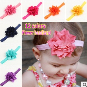 2015 new sweet chiffon lotus infant girl headband headbands baby hair of children with gifts of jewelry 12 colors  free shippingОдежда и ак�е��уары<br><br><br>Aliexpress