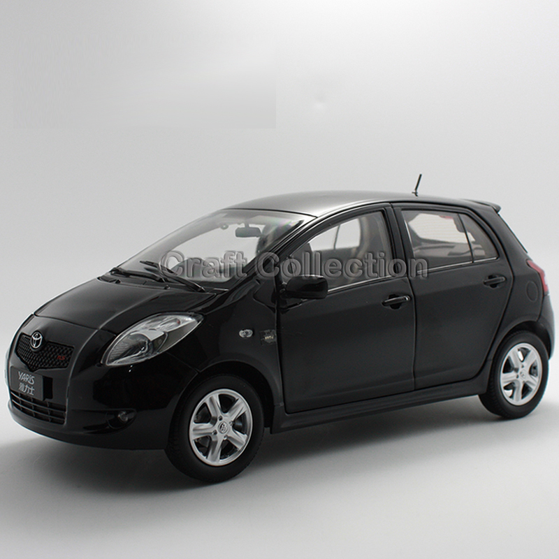 Black 1:18 Toyota Yaris 2008 Diecast Model Car Miniature Vehicle Automobile<br><br>Aliexpress