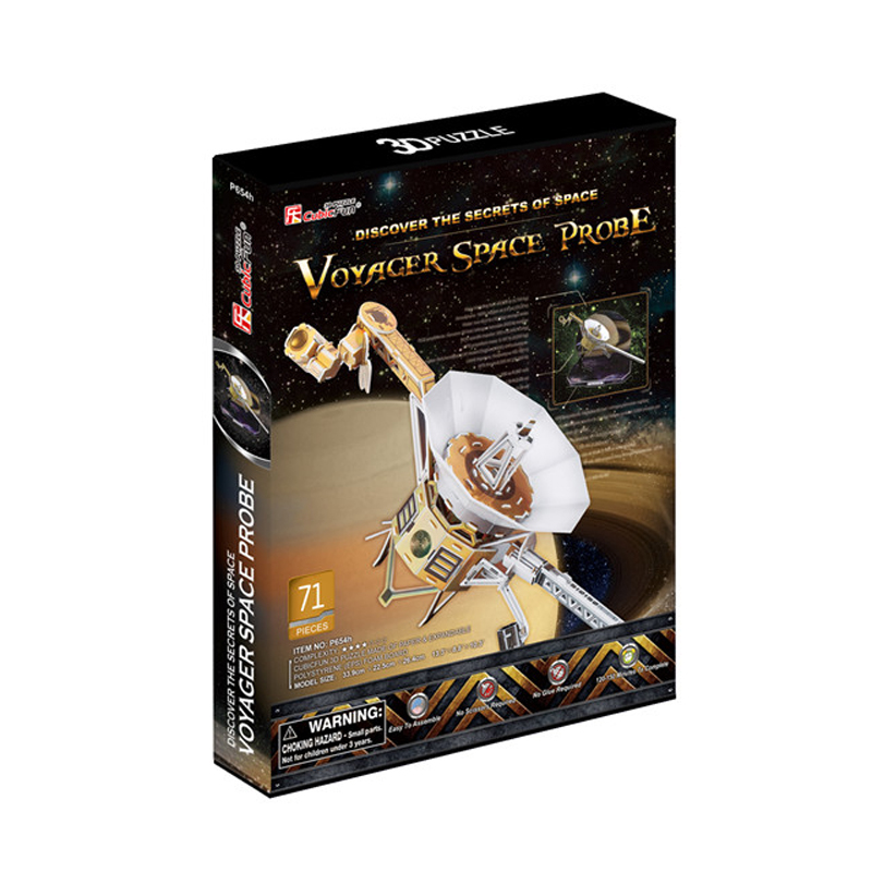 Kids Toys Cubic Fun 3D Puzzle Voyager Space Probe Model DIY Puzzle Children Toys Birthday Gifts Educational Toys P654(China (Mainland))