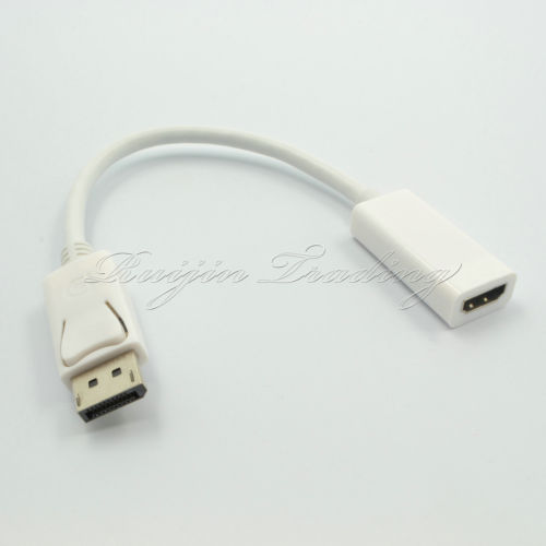 New DisplayPort Male to HDMI Female Cable 3D Video Audio Adapter For PC HP/DELL(China (Mainland))