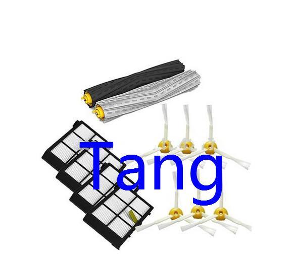 1 set Tangle-Free Debris Extractor Brush +4Heap filter +6 side brush for iRobot Roomba 800 Series 870 880 Vacuum Cleaner(China (Mainland))