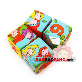 Lala book baby cloth books 0 - 3 baby educational toys three-dimensional response paper magic cube four in one