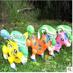 24 PCS horse PVC Inflatable toys for children games Kids birthday gifts Random color baby toys(China (Mainland))