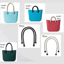 1 pair women's bags hemp shoulder bag handbag taping obag handle long size 70cm length(China (Mainland))