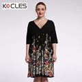 Plus Size 6 7XL Women Summer Bohemian Sexy Elegant Midi Tunic Flower Print Patchwork V Neck