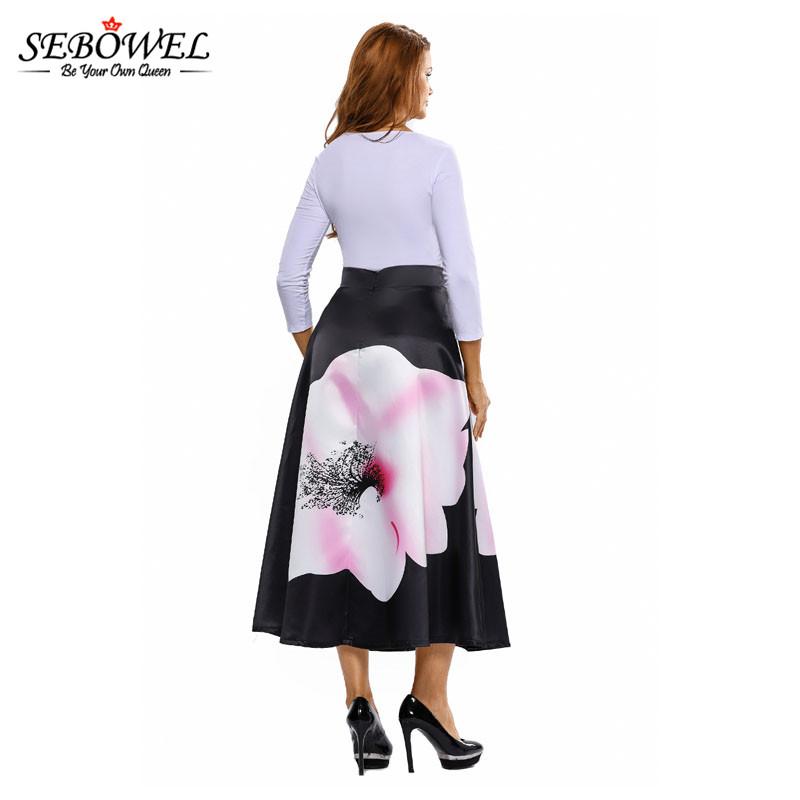 Big-Flower-Print-Black-High-Waist-Maxi-Skirt-LC65017-2-6