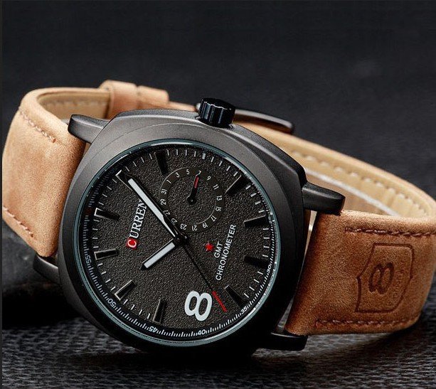 2014 Quality CURREN Men Wristwatch Quartz Watch Military Genuine Leather Strap Sports Watches Fashion Casual - Shenzhen Superpopular Technology Co.,Ltd. store