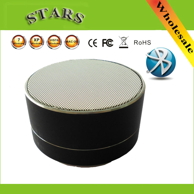 Aluminum Mini Wireless Bluetooth Speakers LED Portable Speaker Subwoofer Cylindrical Handsfree Stereo FM Radio Support SD Card(China (Mainland))