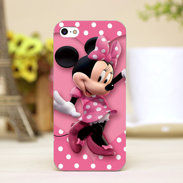 pz0113-14 disny pink mickey minnie Design phone transparent cover cases iphone 4 5 5c 5s 6 6plus Hard Shell - One spark shop store