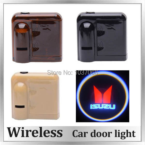 Wireless car door light car door courtesy light led laser lamp movie screen projection for ISUZU(China (Mainland))
