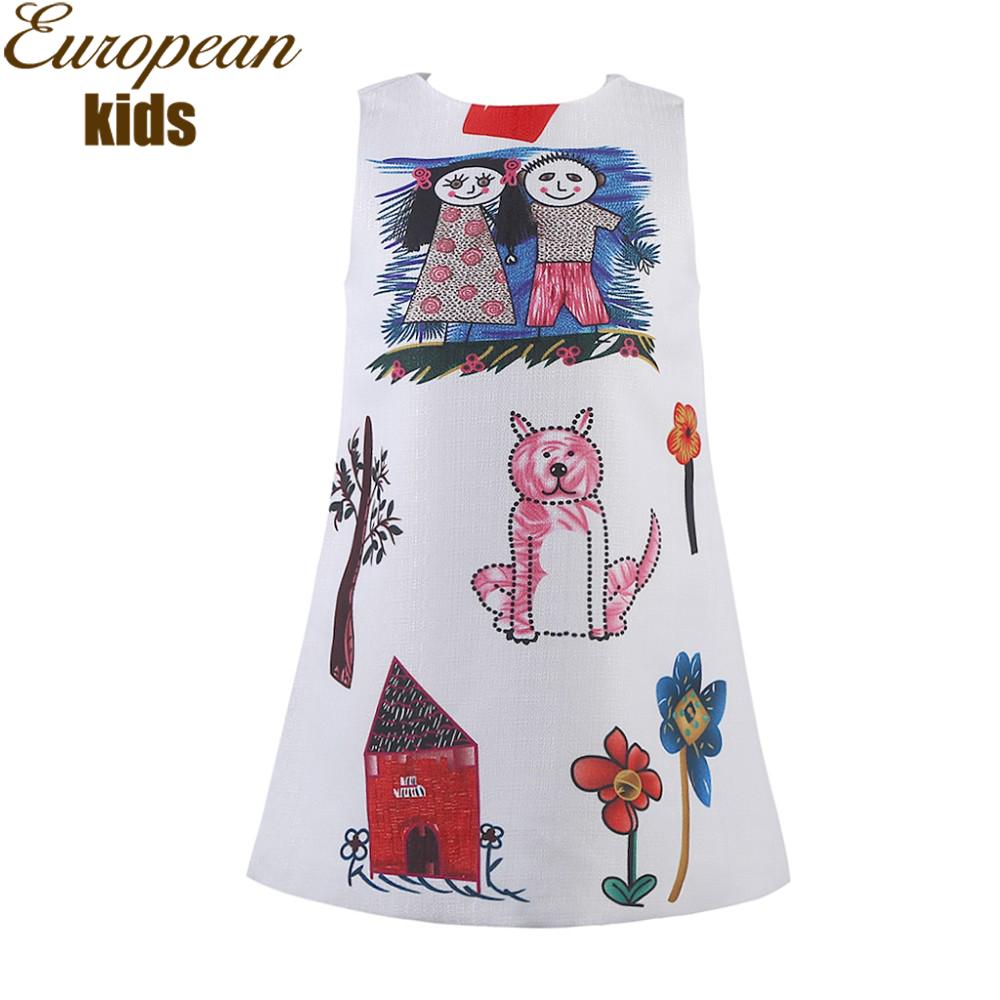 Aliexpress Buy Girls Dresses Summer 2016 Designer A