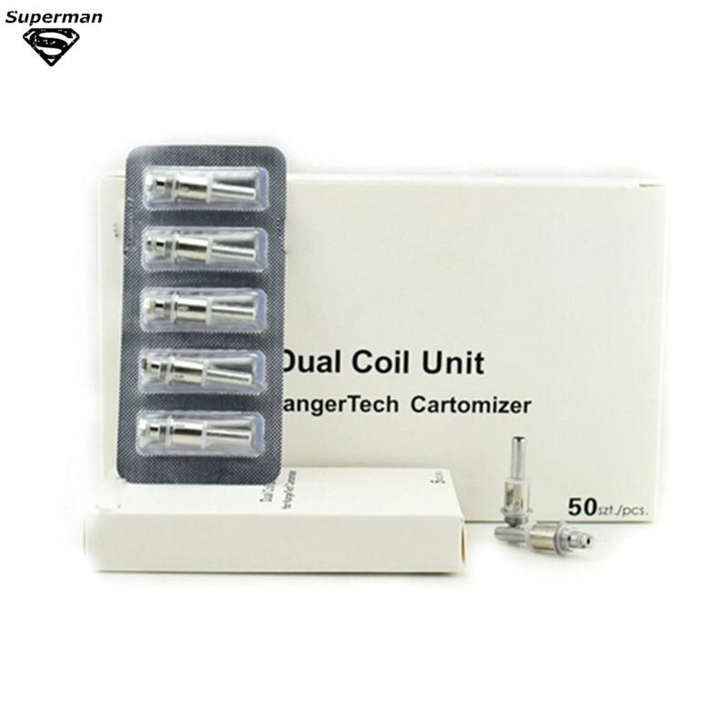 10pcs dual Coil E Cigarette Replacement Atomizer dual Coil Unit Core 1.5ohm 2ohm fit for T3D M14  M16 EMOW Atomizer Vaporizer<br><br>Aliexpress