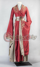 Custom Made Queen Cersei Lannister Red Luxury Dress Game Of Thrones Costume For Adult Women Halloween Cosplay Costume
