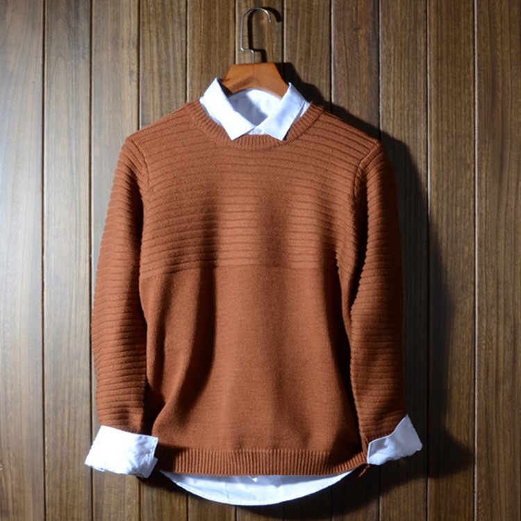 Mens Wool Sweaters And Pullovers 2016 New Fashion Solid Thick Brand Pullover O-Neck Jersey Hombre Men Wool Sweater And Pullovers(China (Mainland))