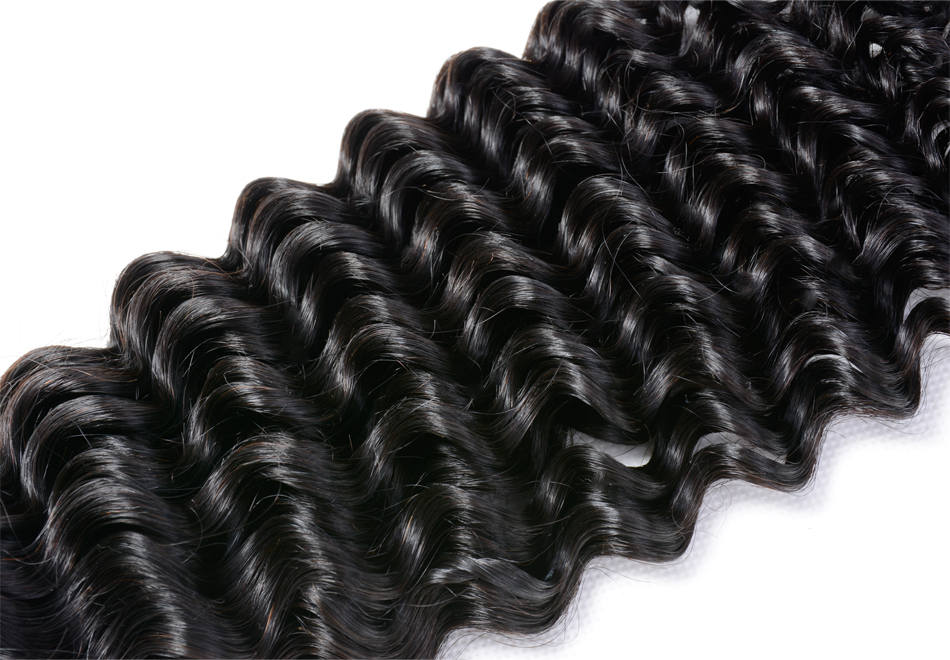 Iwish Hair 1 piece Malaysian Curly Hair Weave Bundles 100% Human Remy Hair Extensions Natural Black Color Strong Double Weft