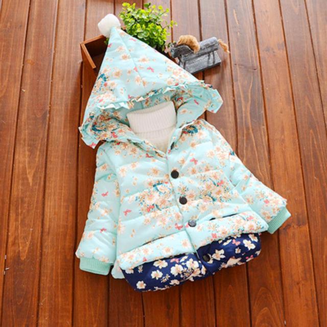 Мягкий Хлопок Ватник Осень Куртка Детская Пальто Giacche Neonati Мода Кардиган Девочка Дети Куртки Болеро 70D040