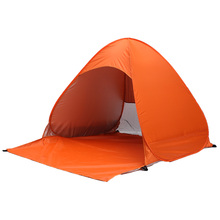 Buy Outdoor Waterproof ultralight polyester fabrics 2-3 Person UV protection tent Travel Camping Hiking automatic beach fishing tent for $25.00 in AliExpress store