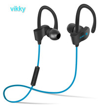 2016 vikky 56S  Earphone Headphone Wireless Sport Bluetooth Headset Stereo Earplugs with Microphone for Phone(China (Mainland))