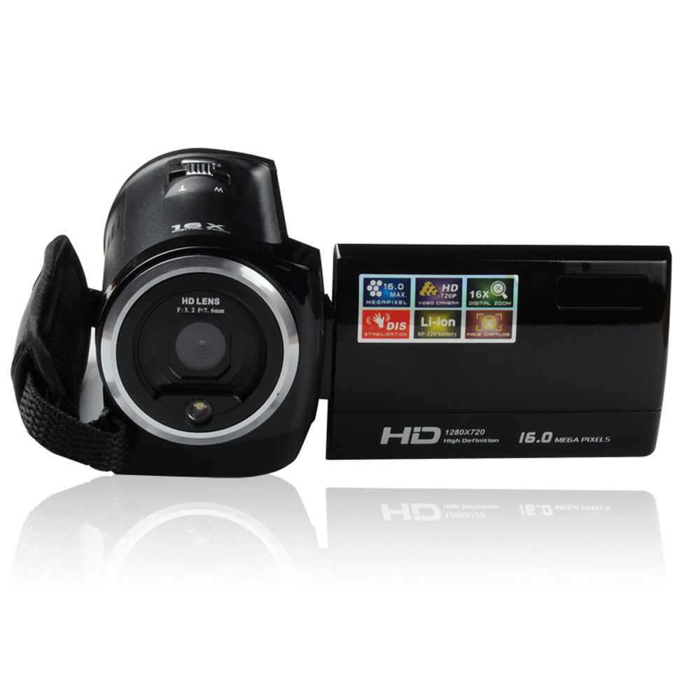 Professional HDV-107 Digital Video Camcorder Camera HD 720P 16MP DVR 2.7'' TFT LCD Screen 16x ZOOM(China (Mainland))