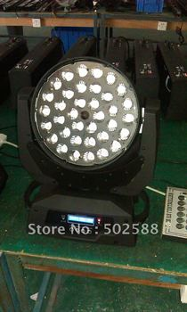10-90 degree auto adjustment  4in1 color zoom led moving head light,36*10W RGBW zoom led moving head light,zoom led stage light
