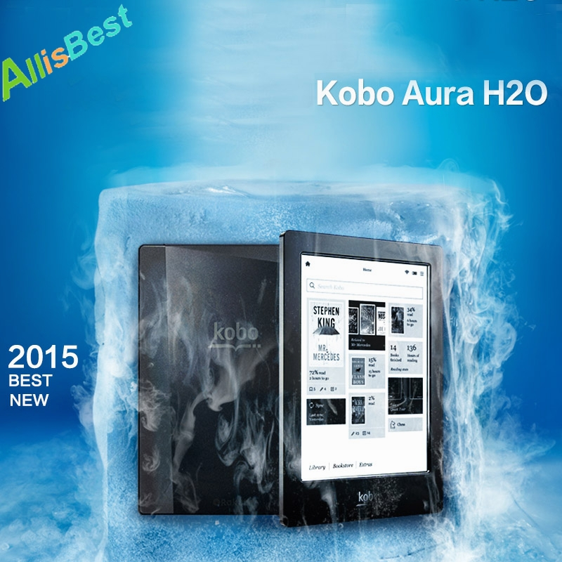 "6.8"" Kobo Aura H2O 4GB Waterproof Glowlight 1433*1080 Touch E ink Screen WiFi Ebook Reader,6 Inch Built-in light E-ink Ereader(China (Mainland))"