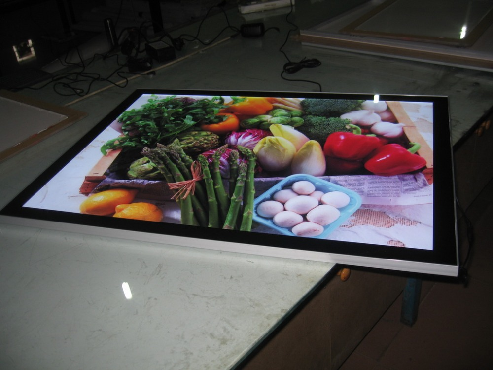 Magnet Smart LED Poster Frame - ILLUMINATED DISPLAY MENU LIGHT BOX 60x70cm(China (Mainland))