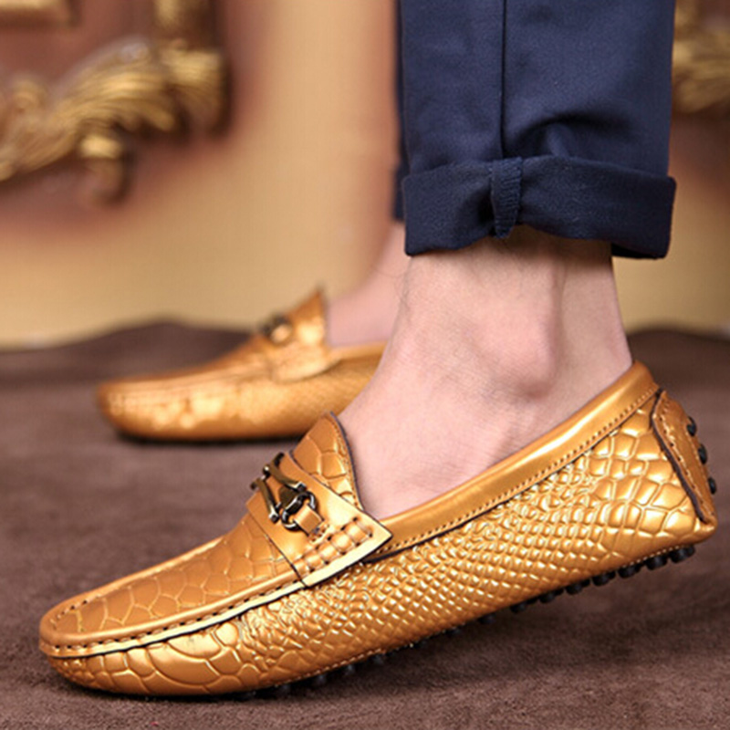 White gold dress shoes for men