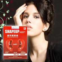 Fashion Women Girls Earrings Magnetic Slim Ear Stickers Weight Loss Sticker with Rhinestone Stud Earring Free Shipping