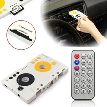 2016 Brand New V intage Car Tape Cassette SD MMC MP3 Player Adapter Kit With Remote Control(China (Mainland))