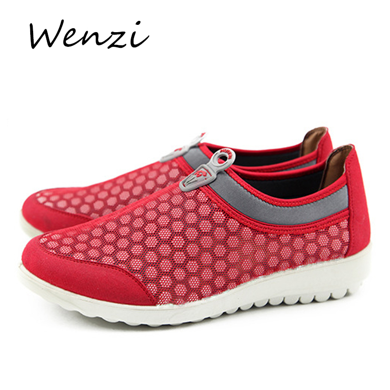 Shoes Woman Sneakers 2015 Spring Summer New Mesh Slip-On Breathable Women Shoes Solid Flat With Wmen Sport Shoes(China (Mainland))