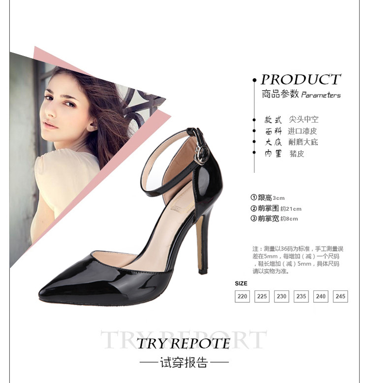 2015 Spring And Summer New High-heeled Stiletto Shoes Pointed Toe Heels Lace Sandals More Color Free Shipping