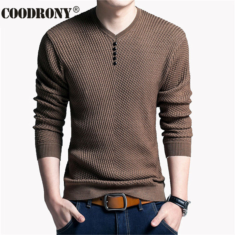 Solid Color Pullover Men V Neck Sweater Men Long Sleeve Shirt Mens Sweaters Wool Casual Dress Brand Cashmere Knitwear Pull Homme
