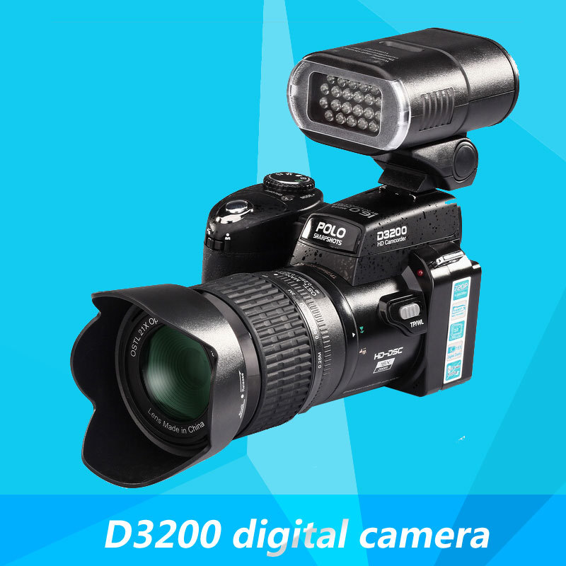 D3200 digital camera 16 million pixel camera Professional SLR camera 21X optical zoom HD LED headlamps cheap sale(China (Mainland))