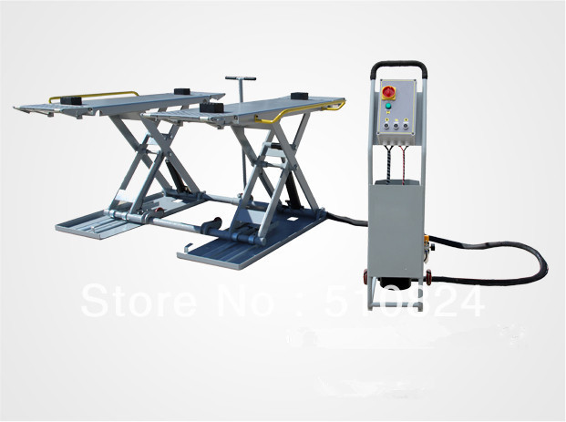 Mobile Hydraulic Lifts : Mobile mid rise scissor lift portable hydraulic