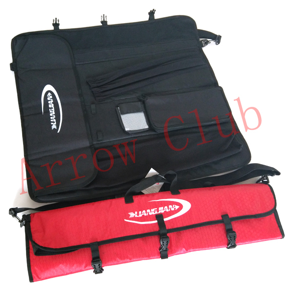 Archery shooting bag rolled up recurve bow case archer pratice holder with handle and shoulder straps