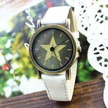 Free shipping wholesale dropship 2013 hot sale Big Star Leather quartz watches men fashion women