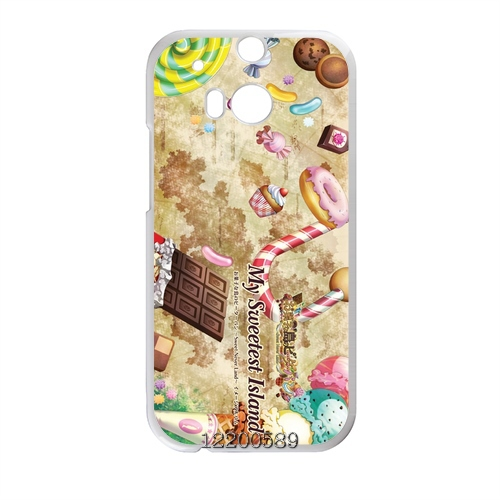 Retro Vintage Sweetheart cake Canada Designs front cover clone caso Hard plastic case for HTC One m8 Bright Colored(China (Mainland))